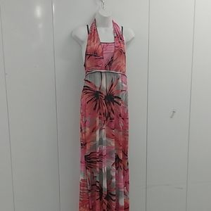Long Hawaiian halter dress